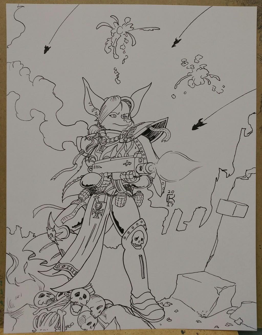 Most recent image: Raine battle commission inks