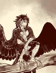 Doodle-Speedpaint: Harpy