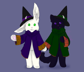 Hocus and Pocus: chibi Patron Commission