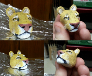 [Sculpting] Disembodied Lioness