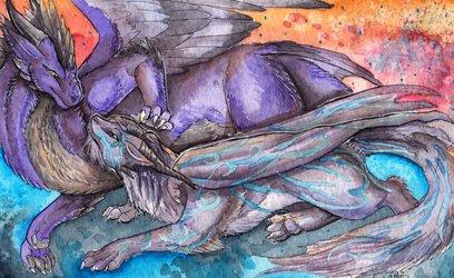 Lounging Dragons