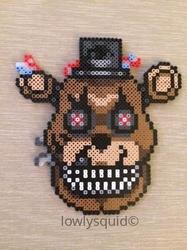 Nightmare Freddy Bead Badge