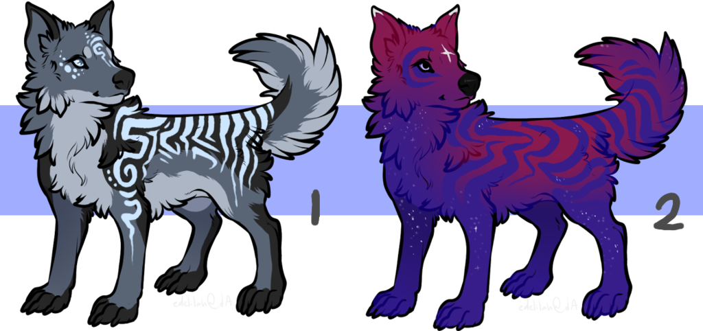 Most recent image: wolf or dog adopts - open; 2/2