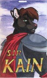 Sir Kain badge by Terry Sender
