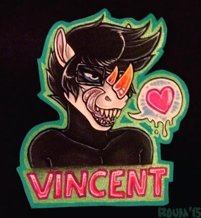 Vincent Bust Badge