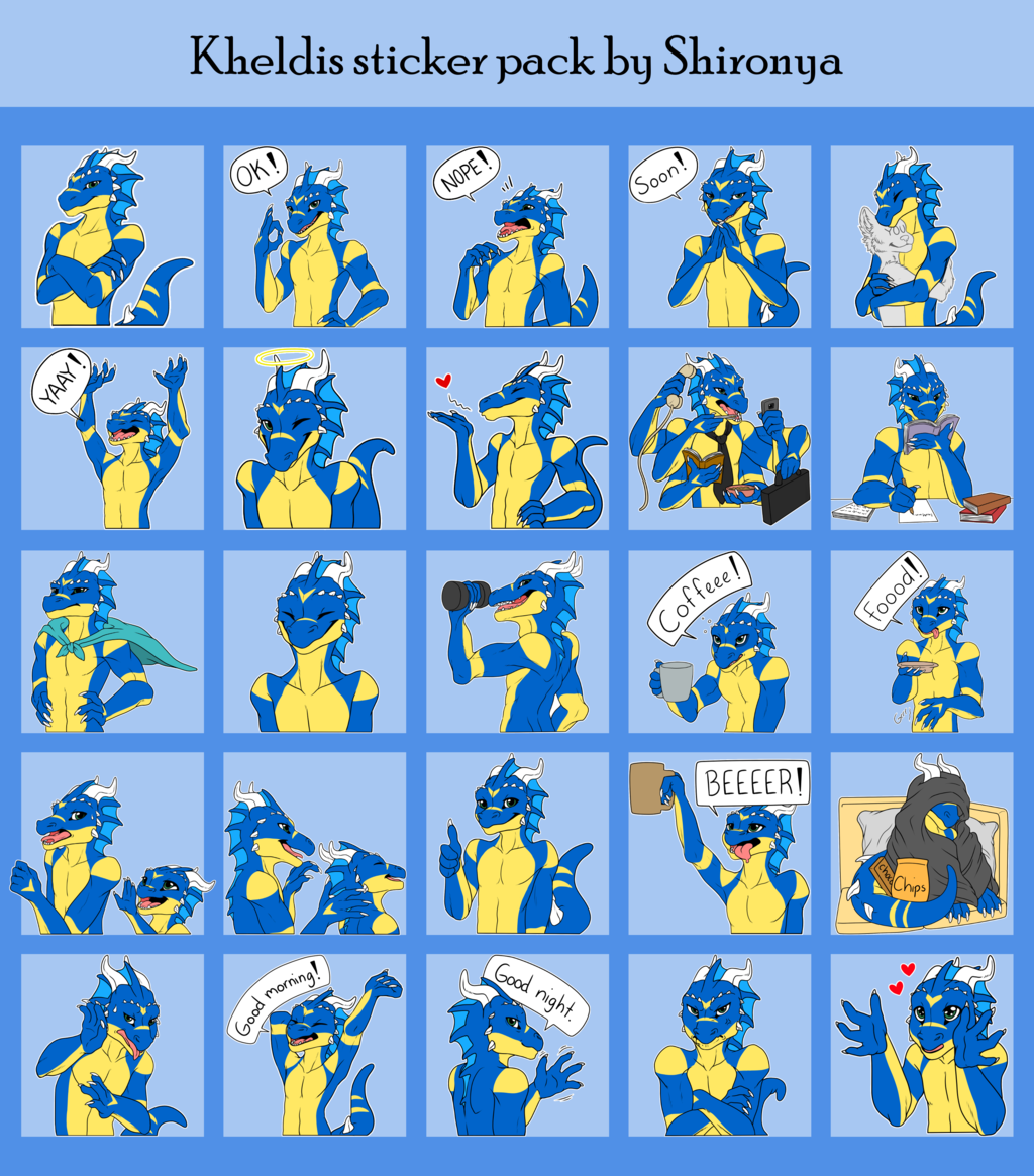 Kheldis Telegram sticker pack