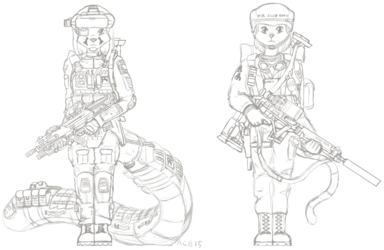 Soldier sketches