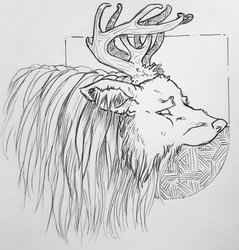 Inktober - Forest Beast