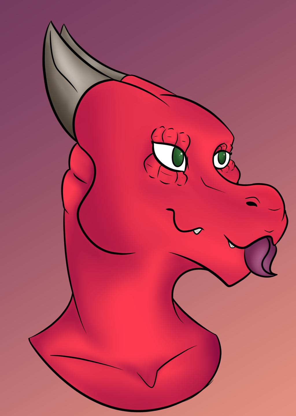 Headshot of a Dragon