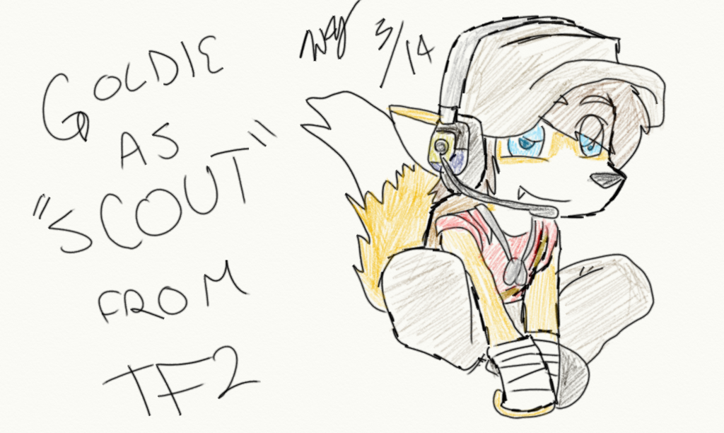 Goldie as Scout from T.F.2