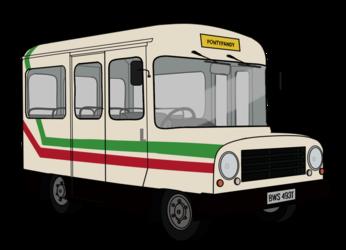 Trevor's Bus 1987 with glass
