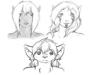 Character Headshot Sketches