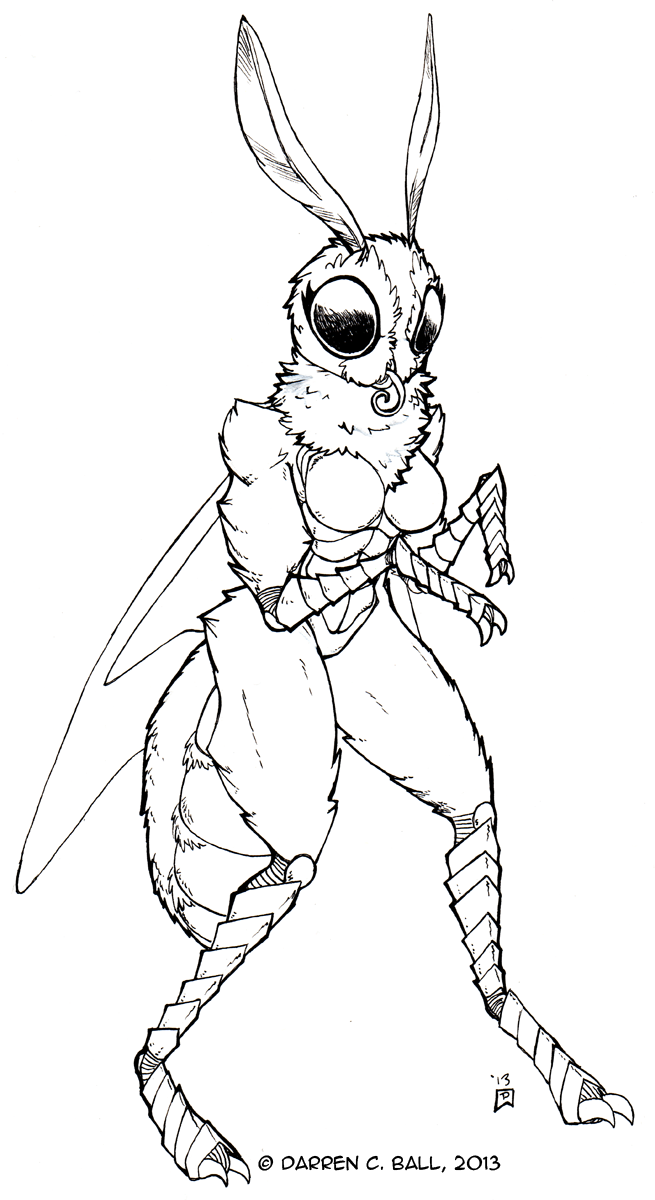 Monster Girl 18 Mothwoman