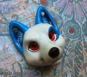 Icy Wolf Pendant