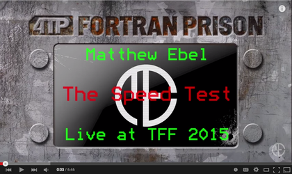The Speed Test - Live at TFF 2015