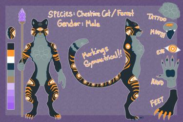Egg Adopt - One Eyed Cheshire Cat Ferret