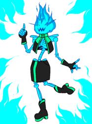 the skeletal flame
