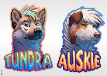 Tundra + Auskie Badges