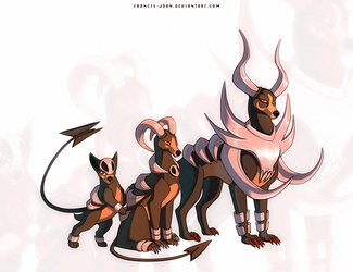Mega Houndoom , Houndoom and Houndour
