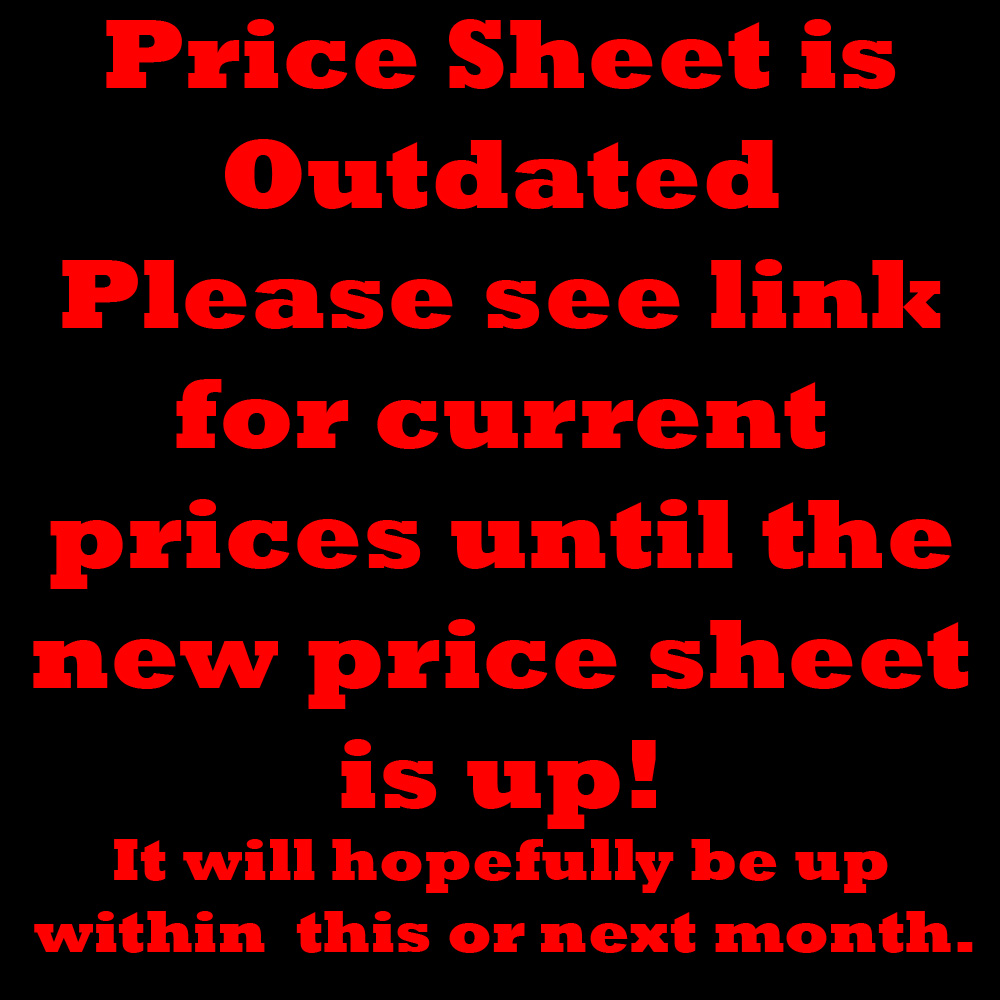 2014 Commission Price Guide