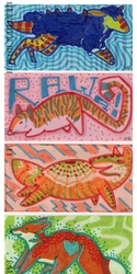 Animals with money