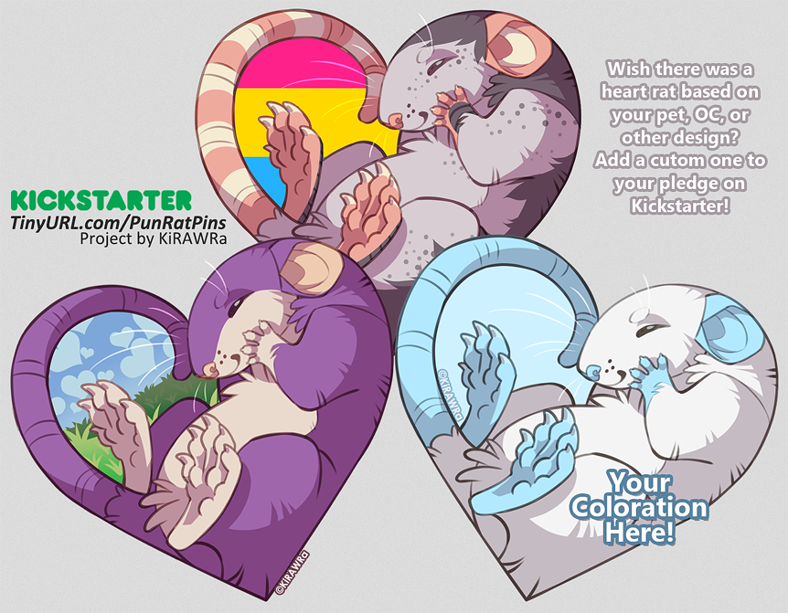 YCH Custom Heart Rat