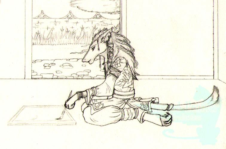 Shiro Painting - Sketch
