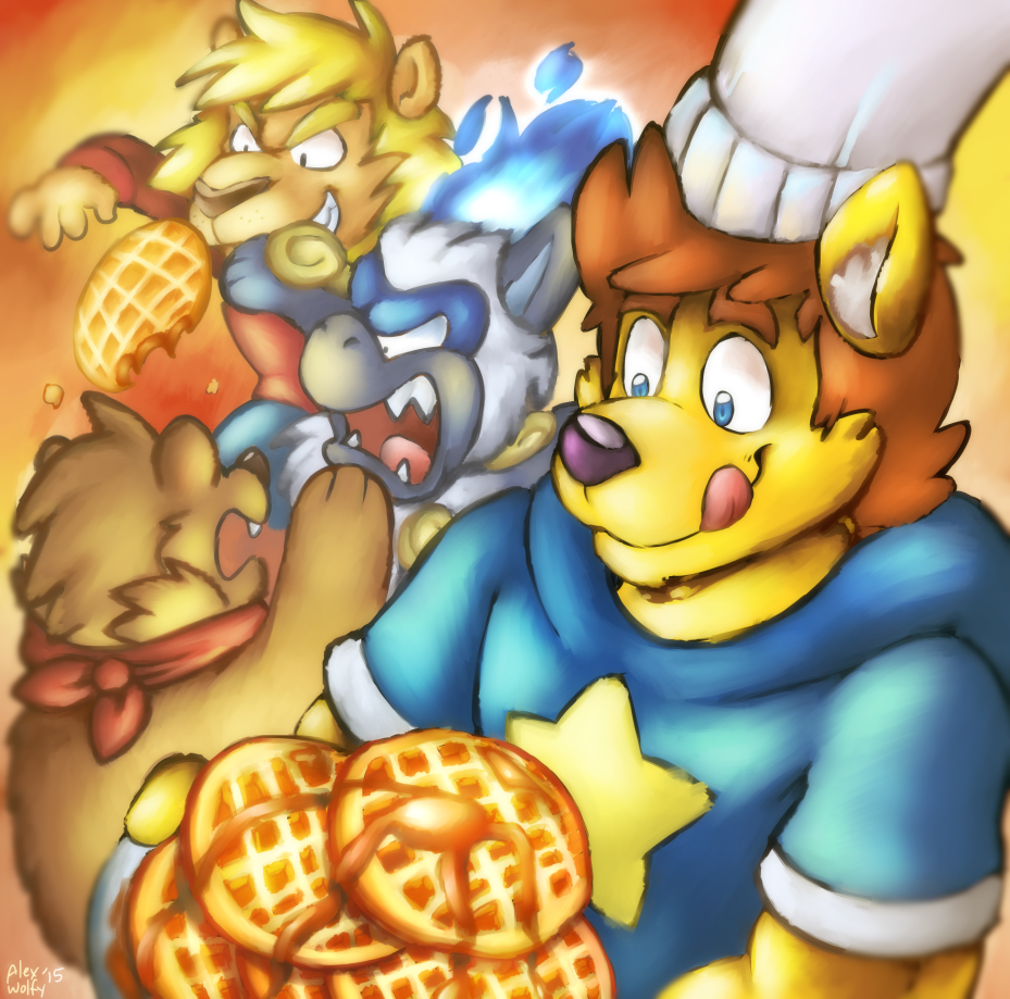 [GIFT] Chef Alex and Waffles - by AlexWolfy