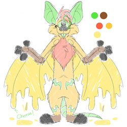 (WIP) Oliver the Pizza Bat Reference Sheet