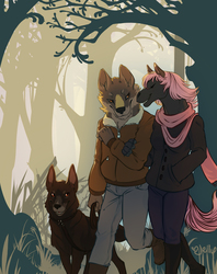 $-Commission-$ Early Spring Stroll