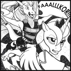 """""""FaaAAALKORRR!!!!"""" - Luna & Rithy Inked Sketch"""