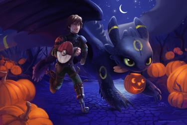 A Very HTTYD Pokemon Halloween