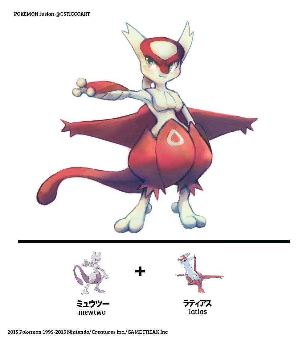 Most recent image: Mewtwo/Latias Fusion