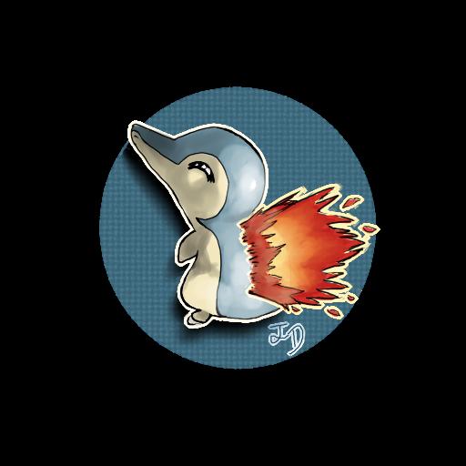 Most recent image: cyndaquil sticker