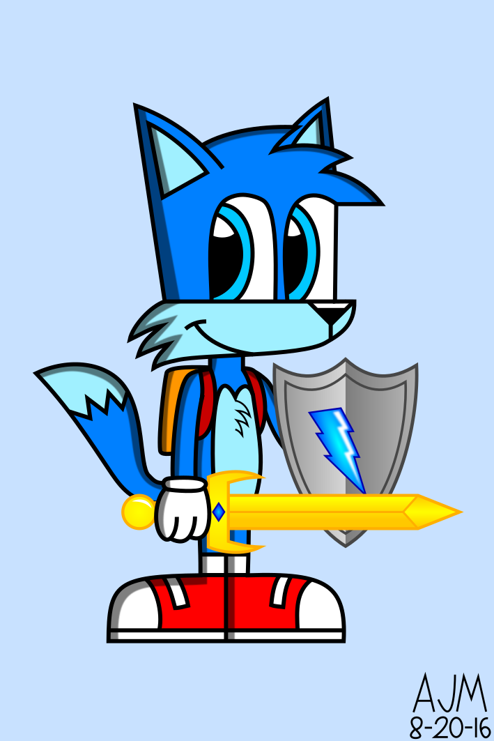 Hyper with his Sword and Shield
