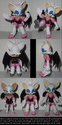 3D printed Rouge figure