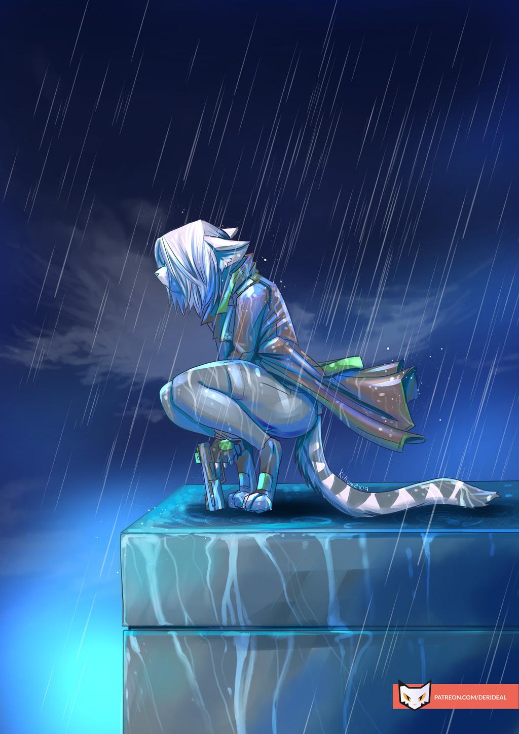 Ivory under the rain