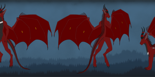 Tzargshaznakk, the Half-Demon Dragon