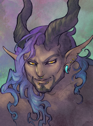 Commission: Ashur Portrait