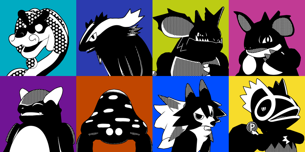 Most recent image: P5-Inspired Pokemon Icons