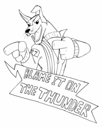 Inktober day 27: Thunder