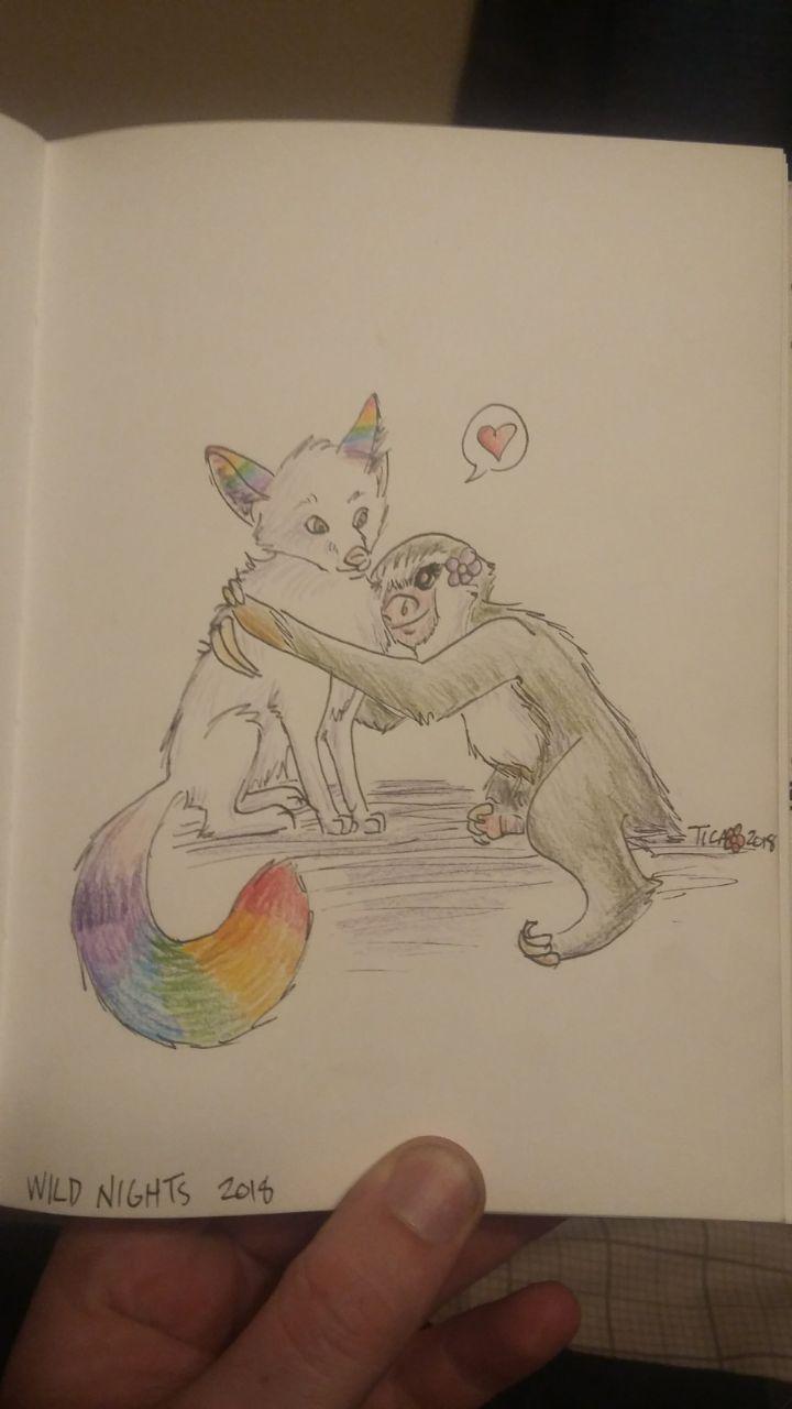 doodle: hugs for Skittles