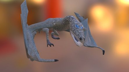 Agressive wyvern, 3D-model