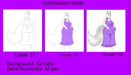 COMMISSION SHEET! (revised)