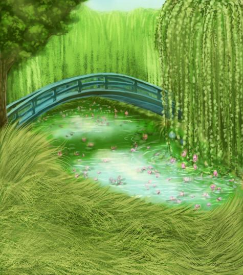 Pet Sim Background - Japanese Bridge