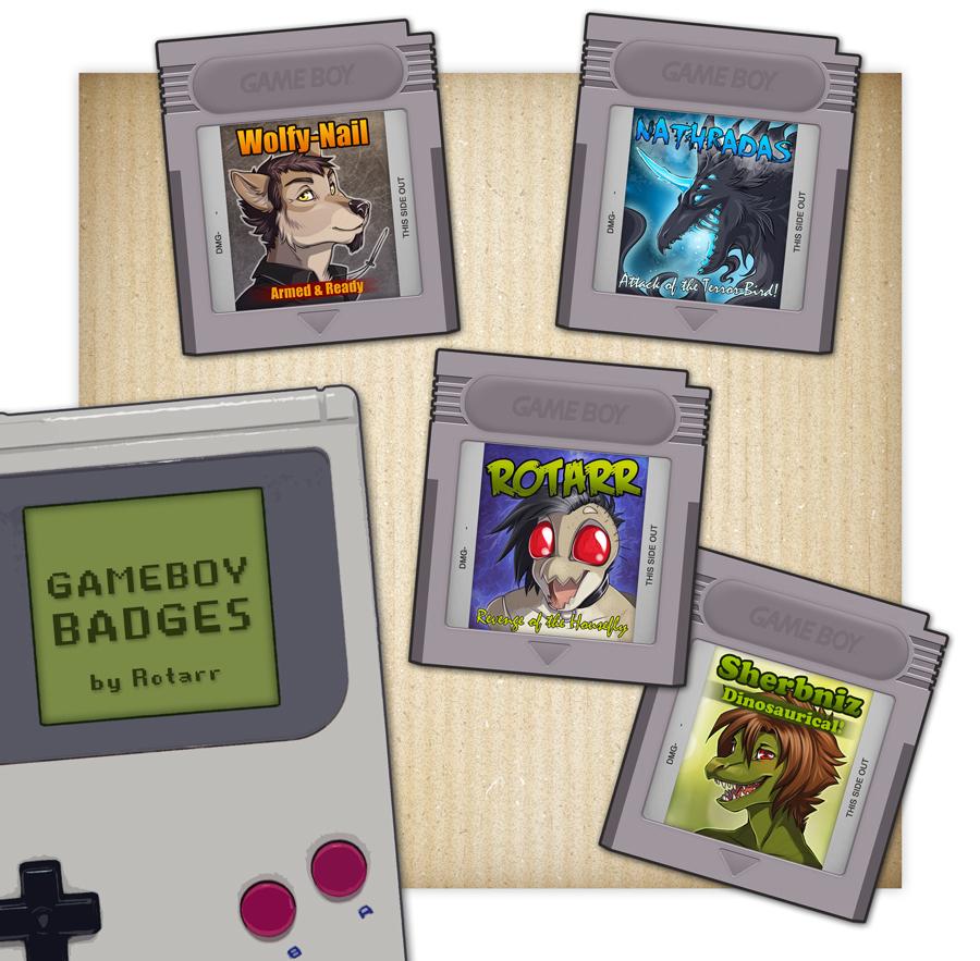 GAMEBOY Badges 1.0