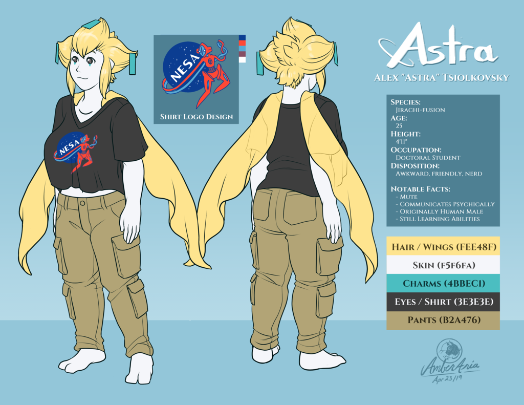 Astra the Jirachi Reference Sheet