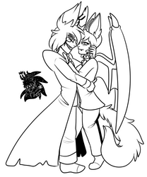 Heart & Alastor +Commission WIP+