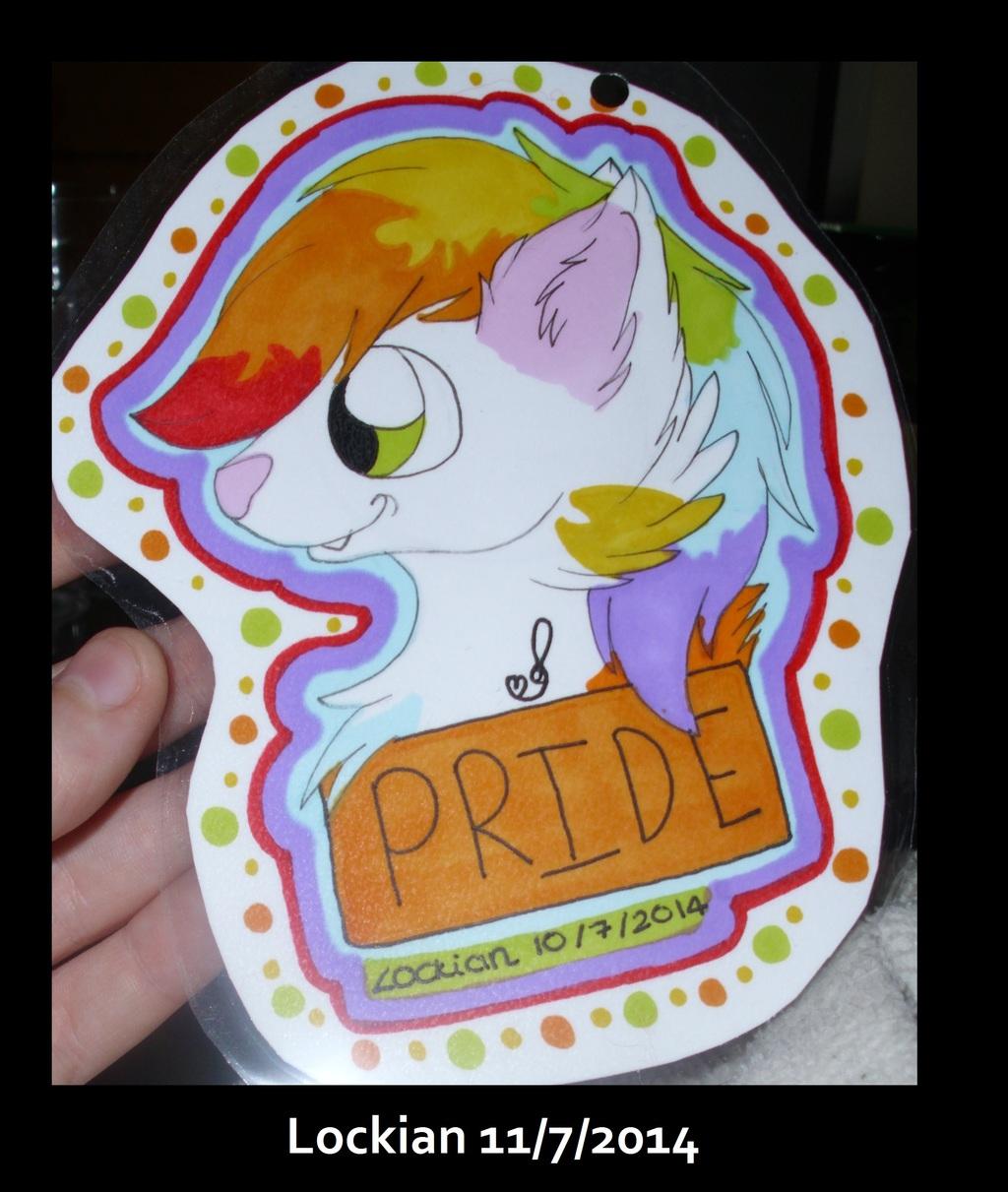 Headshot promarker con badge for Pride