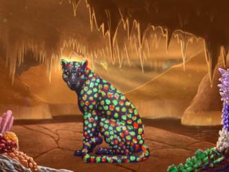 Felis Pardus - Jeweled Cave Background